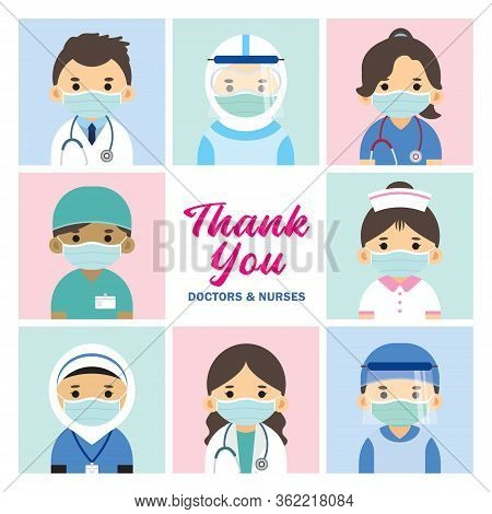Thank You Frontline Workers: Doctors, Nurses & Healthcare Workers For Fighting Covid-19 Coronavirus