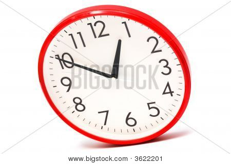 Clock Per The Red Case