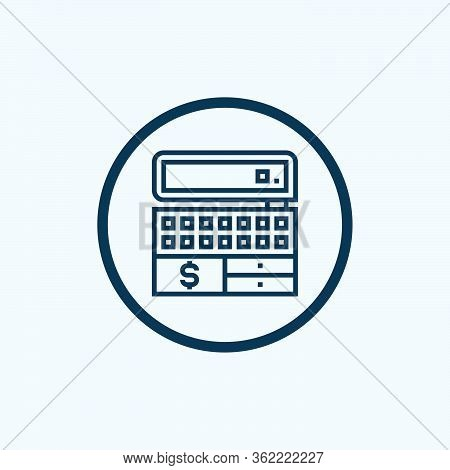 Cash Register Icon Vector From Payment And Bank Collection. Thin Line Cash Register Outline Icon Vec