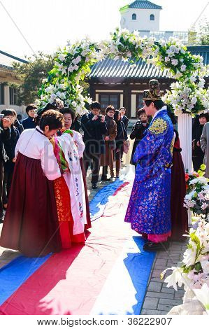 A Performance Of The Traditional Korean Wedding.