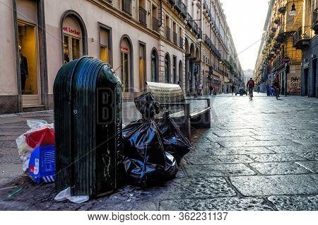 Turin, Italy - September 25, 2016 - Via Garibaldi, Main Shopping Street In The Center Of Turin (ital