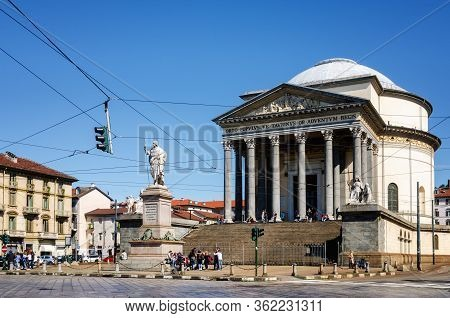 Turin, Italy - May 7, 2017: The Church Of The Gran Madre In Turin (piedmont, Italy) On May 7, 2017