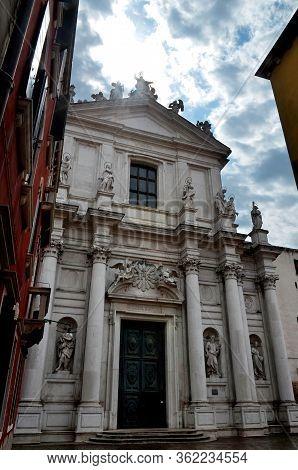 Venice, Facade Of The Church Of Santa Maria Assunta, Also Known As I Gesuiti (