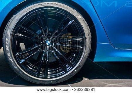 Bmw M5 Competition Wheel, Michelin Tire.bmw Welt, Munich, Germany, March 2020