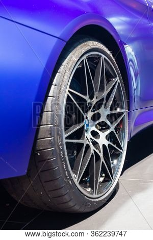 Bmw M4 Wheel With Michelin Tire.bmw Welt, Munich, Germany, March 2020