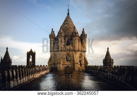 Exterior View Of The Cathedral Of Evora (alentejo, Portugal), Dedicated To The Lady Of Assumption (n