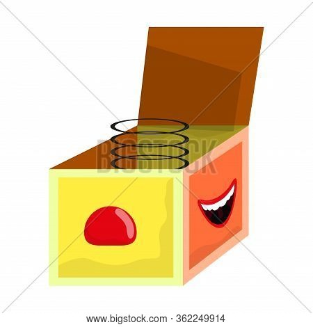 Isolated Joke Box. April Fools Day - Vector