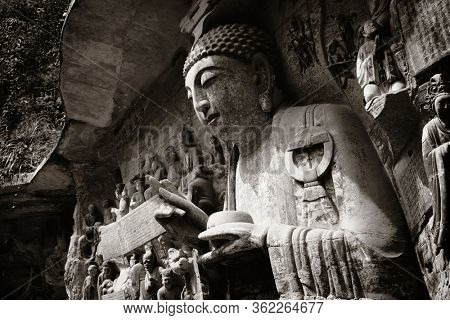Dazu Rock Carvings as the World Heritage Site located in suburb Chongqing, China