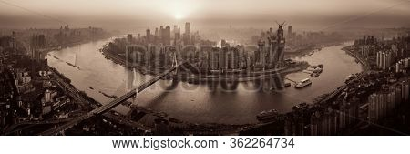 Chongqing urban architecture and city skyline panorama in China