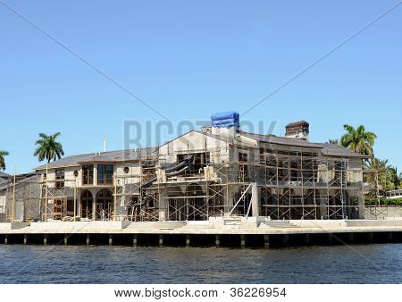 Luxury Home Under Construction