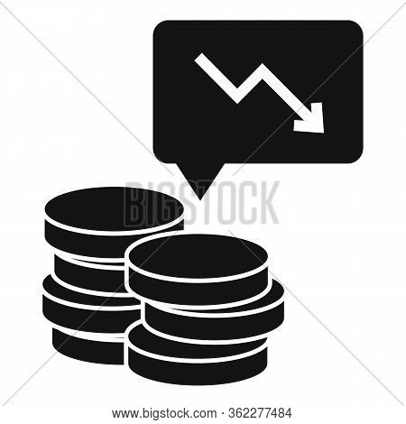 Bankrupt Coin Stack Icon. Simple Illustration Of Bankrupt Coin Stack Vector Icon For Web Design Isol