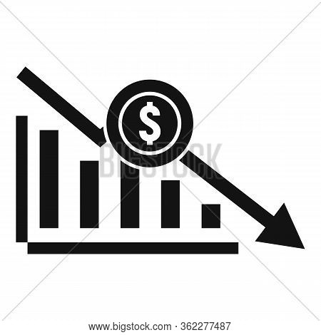 Bankrupt Chart Icon. Simple Illustration Of Bankrupt Chart Vector Icon For Web Design Isolated On Wh
