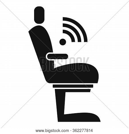 Wifi Seat Icon. Simple Illustration Of Wifi Seat Vector Icon For Web Design Isolated On White Backgr