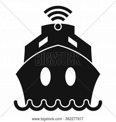Cruise Ship Wifi Icon. Simple Illustration Of Cruise Ship Wifi Vector Icon For Web Design Isolated O