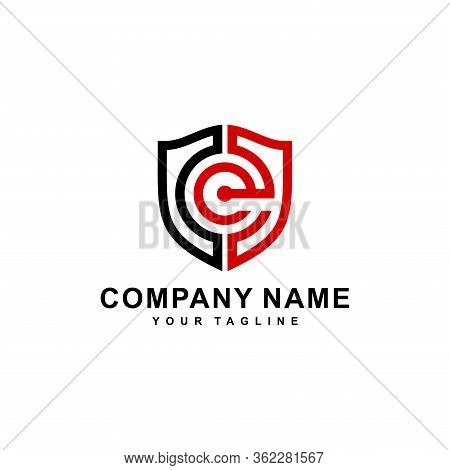Initial Ce Or Ce With The Concept Of Shield Logo Design Vector Illustration