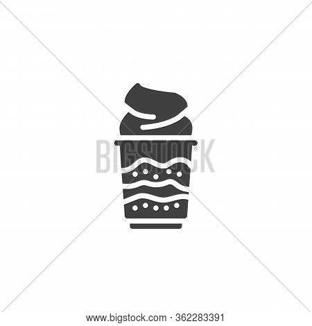 Whipped Ice Cream Vector Icon. Filled Flat Sign For Mobile Concept And Web Design. Sundae Ice Cream