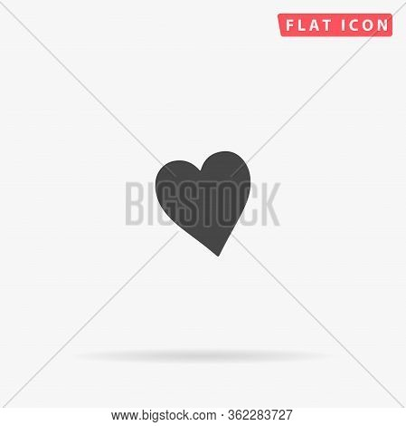 Suit Hearts Flat Vector Icon. Glyph Style Sign. Simple Hand Drawn Illustrations Symbol For Concept I