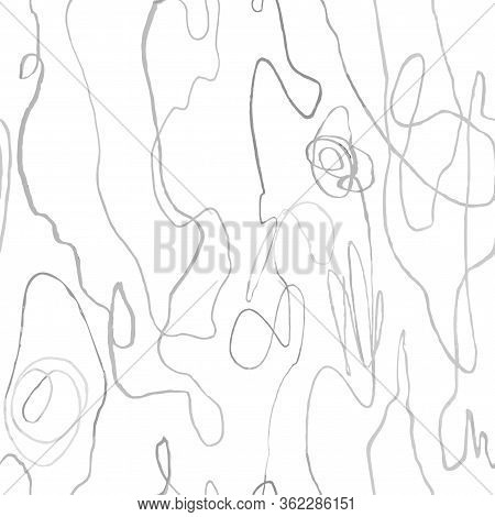 Vector Modern Seamless Background With Slate Pencil Hand Drawn Abstract Lines, Doodles. Use It For W