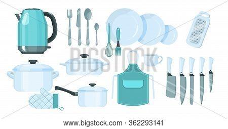 Set Of Kitchen Utensils, Modern Cooking Utensils.