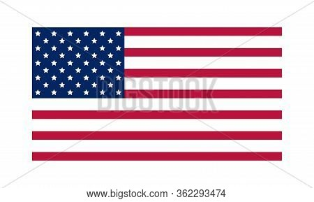 American Flag With Good Colors On Light Lime Color Background. Usa Flag. American Flag. United State