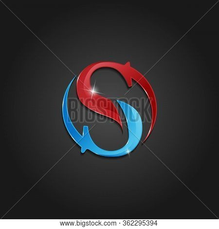 Letter S Shiny Colorful Lettermark Logo