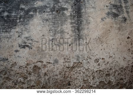 Ancient obsolete wall. Aged italian street wall background, texture. Weathered old dirty surface