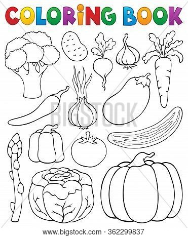 Coloring Book Vegetable Collection 1 - Eps10 Vector Picture Illustration.