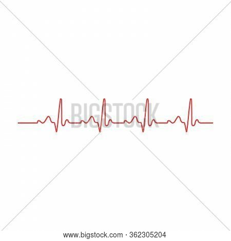 Heart Rhythm. Cardiogram. Isolated On White Background Icon