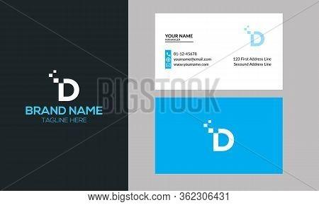 D Dots Logo Design Template. Hexagon D Icon. D Letter Logo Vector
