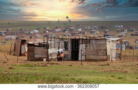ghetto area near Johannesburg in Gauteng, South Africa