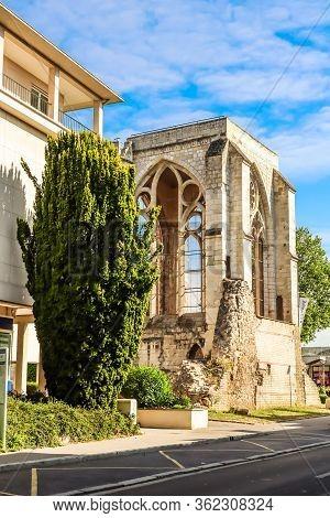 Beauvais, France - July 10, 2019: Ruins Of The Saint Barthelemy Collegiate Church 11-18th Centuries