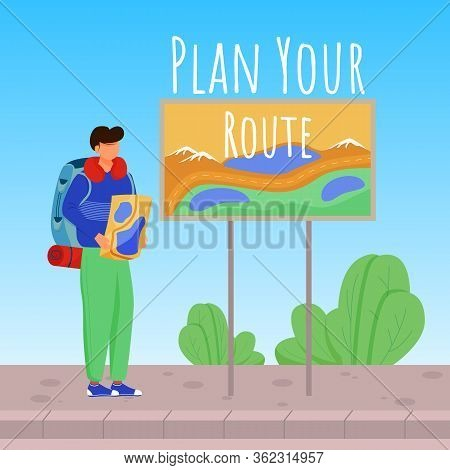 Plan Your Route Social Media Post Mockup