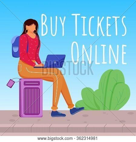 Buy Tickets Online Social Media Post Mockup
