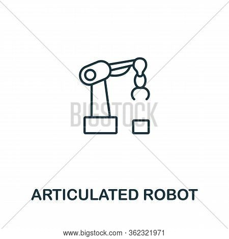 Articulated Robot Icon From Artificial Intelligence Collection. Simple Line Articulated Robot Icon F