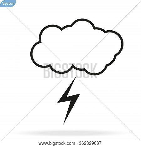 Cloud Lightning Bolt Vector Photo Free Trial Bigstock