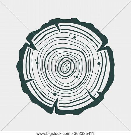 Carpenter Wood Rings Timber Lumber Logger Logo