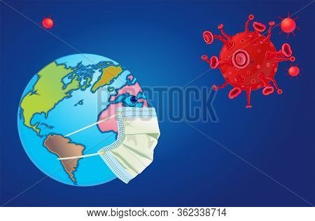The World Wear Facemask For Protect Virus Covid-19