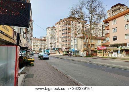 Istanbul - Apr 19, 2020:coronavirus Virus Lockdown Empties City Streets. Covid19 Crisis Means Istanb