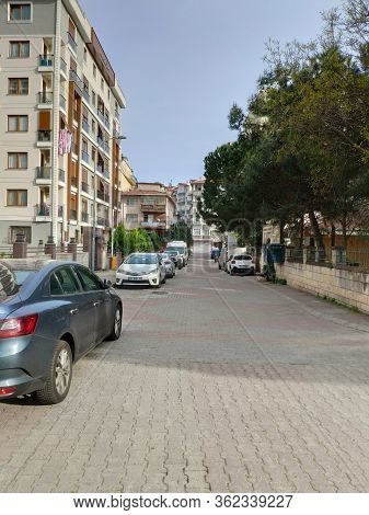 Istanbul - Apr 19, 2020: Coronavirus Virus Lockdown Empties City Streets. Covid19 Crisis Means Istan