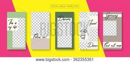 Social Stories Cool Vector Layout. Minimal Sale, New Arrivals Story Layout. Online Shop Abstract Gra
