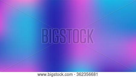 Blue Purple Pink Digital Gradient Background. Pearlescent Noble Vector Color Overlay. Elegant Colorf