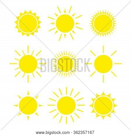 Suns - Elements For Design Set Of Vector Suns, Suns Collection Eps 10