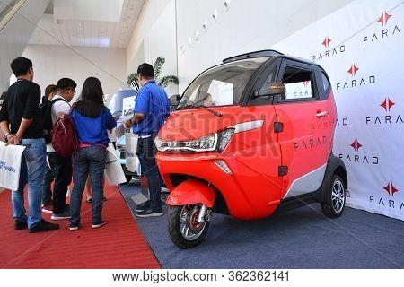 Pasay, Ph - July 26 - Jin Ma Farad Compact Vehicle At Philauto Show On July 26, 2019 In Pasay, Phili