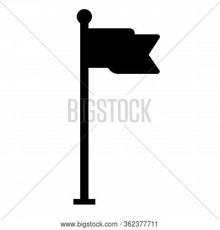 Flag Icon On White Background. Flat Style. Location Flag Icon For Your Web Site Design, Logo, App, U