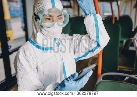 Public Transport Person Protection Virus Passenger Asian