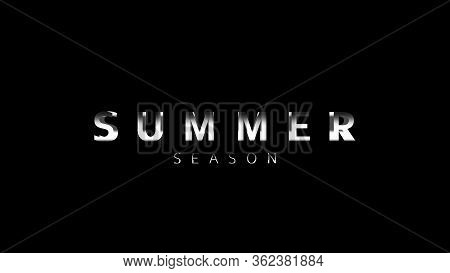 Cinematic Summer Season Title Video Template. Animation Text Of Dynamic Zoom Camera Advertisement.ve