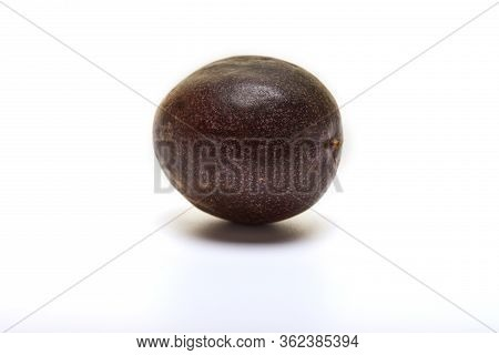 Passiflora Whole Fruit Isolated On A White Background.