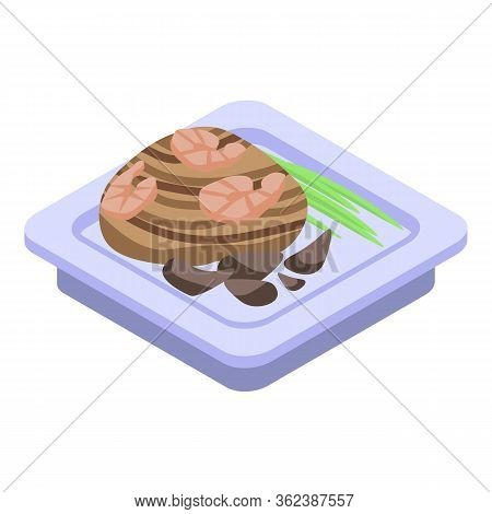 Cooking Thai Dishes Icon. Isometric Of Cooking Thai Dishes Vector Icon For Web Design Isolated On Wh