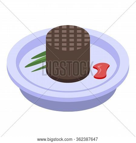 French Choco Waffle Icon. Isometric Of French Choco Waffle Vector Icon For Web Design Isolated On Wh