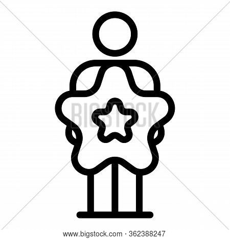 Star Command Manager Icon. Outline Star Command Manager Vector Icon For Web Design Isolated On White